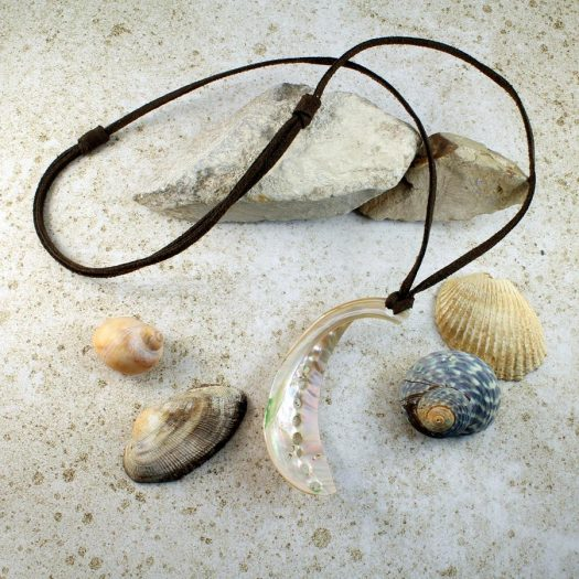 Abalone Shell Necklace N-0140-b