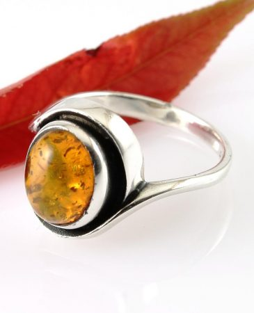 Amber Oval Bypass Setting Ring R-0107-a