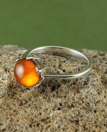 Amber Round Ring R-0105-a