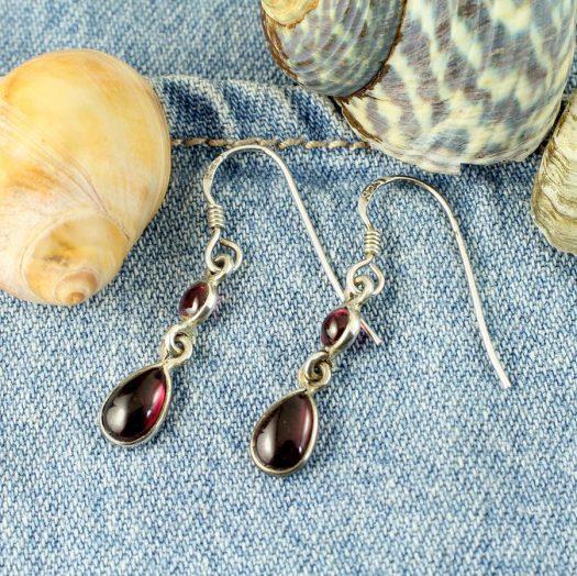 Amethyst Teardrop Earrings E-0162.b