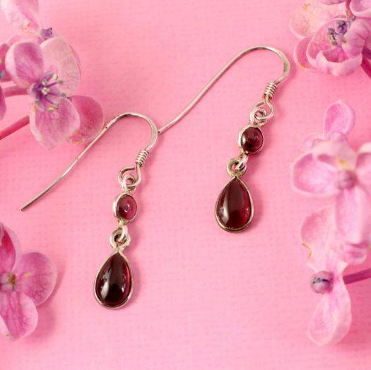 Amethyst Teardrop Earrings E-0162.c
