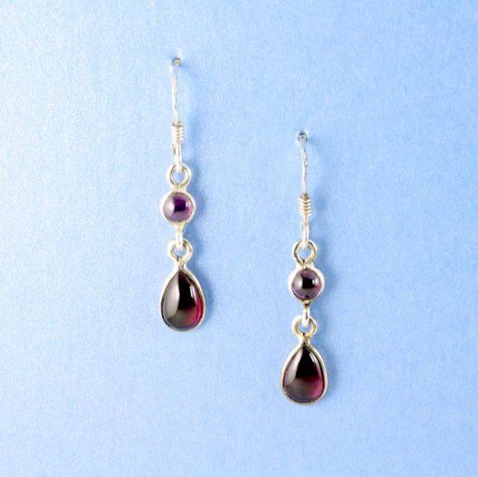 Amethyst Teardrop Earrings E-0162.d