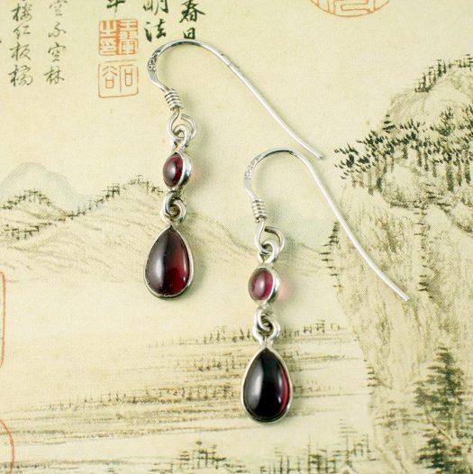 Amethyst Teardrop Earrings E-0162.f