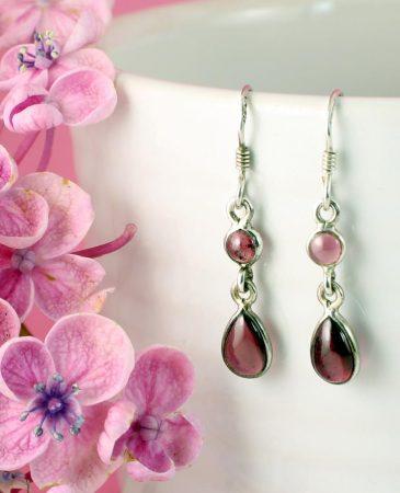 Amethyst Teardrop Earrings E-0162.g