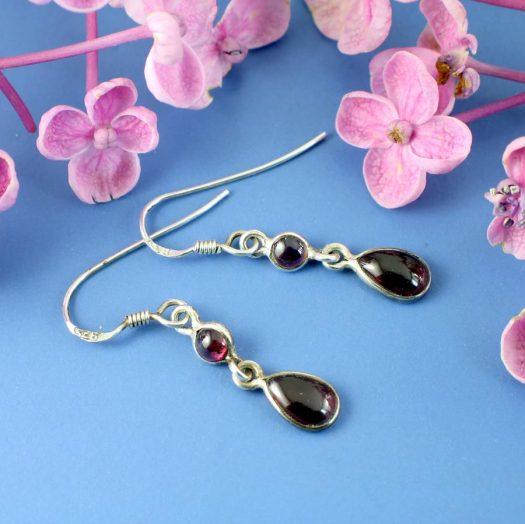 Amethyst Teardrop Earrings E-0162.h