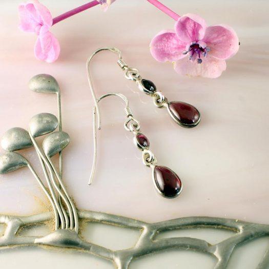 Amethyst Teardrop Earrings E-0162.i