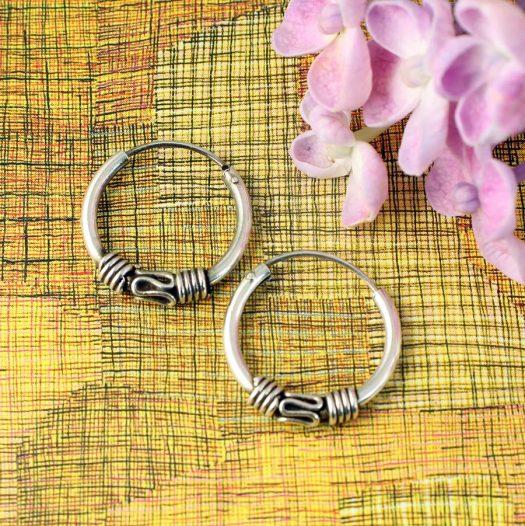 Bali Style 17mm Hoops E-0192-e