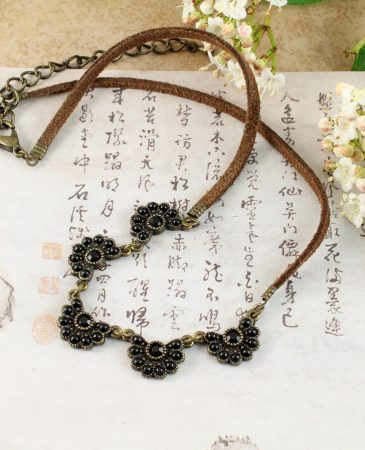 Baroque Floral Necklace N-0176-c