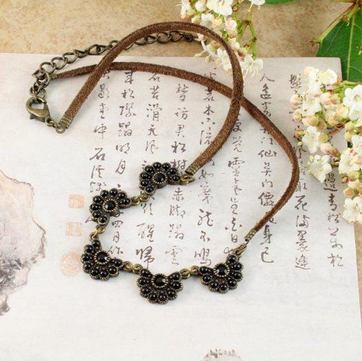 Baroque Floral Necklace N-0176-c