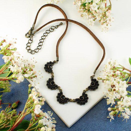 Baroque Floral Necklace N-0176-h