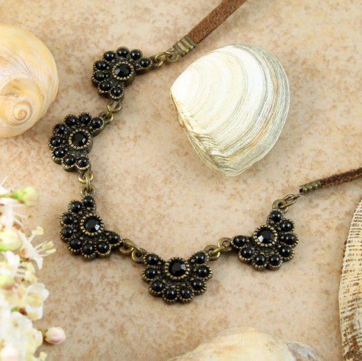 Baroque Floral Necklace N-0176-i