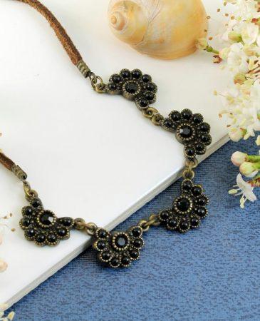Baroque Floral Necklace N-0176-k