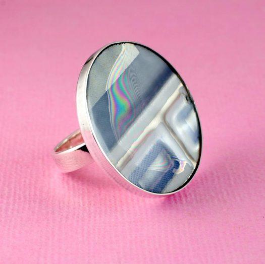 Blue Mondrian Ring R-0102-a