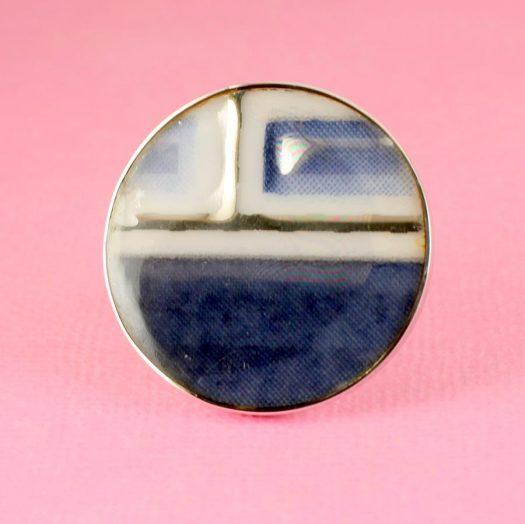 Blue Mondrian Ring R-0102-c