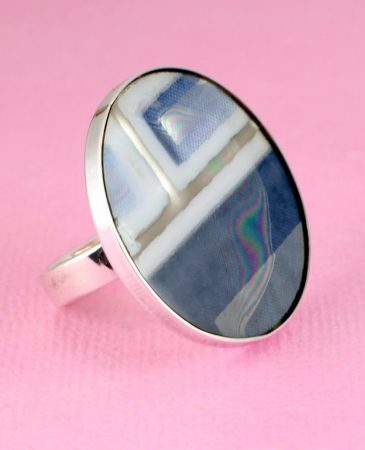 Blue Mondrian Ring R-0102-e
