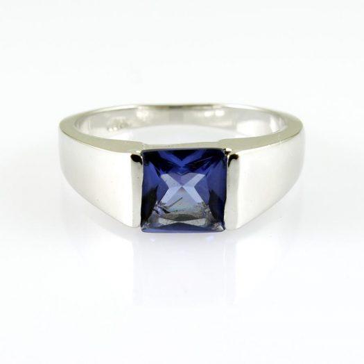 Blue Quartz Ring R-0194-a