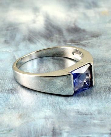 Blue Quartz Ring R-0194-f