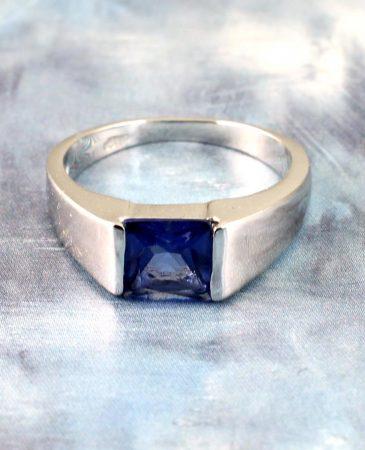 Blue Quartz Ring R-0194-h