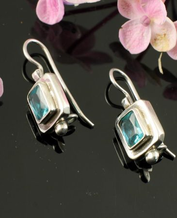 Blue Topaz Rectangles E-0143-a