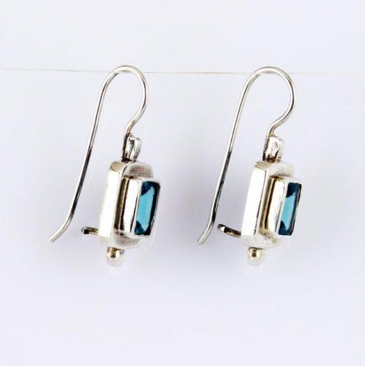 Blue Topaz Rectangles E-0143-n