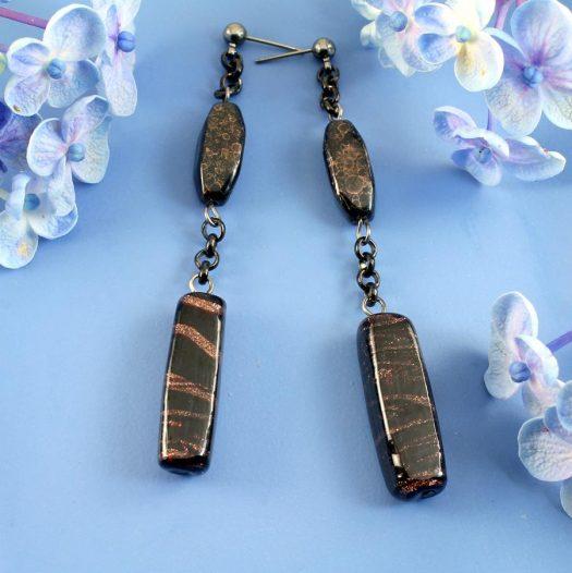 Bronze Bead Earrings E-0202-b