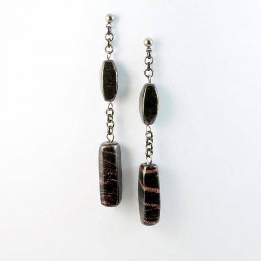Bronze Bead Earrings E-0202-d