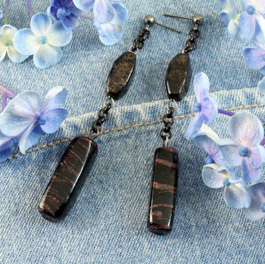 Bronze Bead Earrings E-0202-e