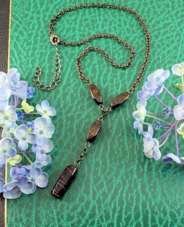 Bronze Bead Necklace N-0161-d
