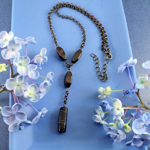 Bronze Bead Necklace N-0161-e