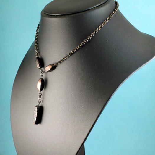 Bronze Bead Necklace N-0161-k