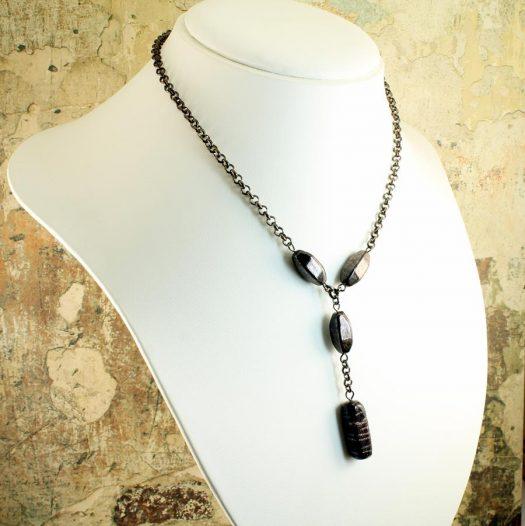 Bronze Bead Necklace N-0161-l