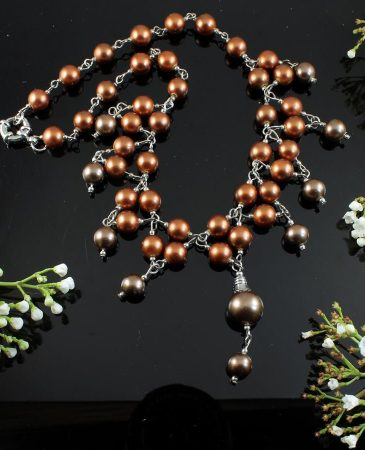 Bronze Freshwater Pearls N-0178-a