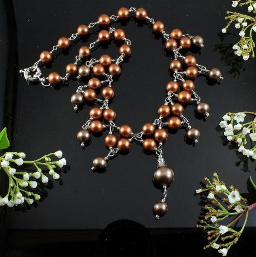 Bronze Freshwater Pearls N-0178-a