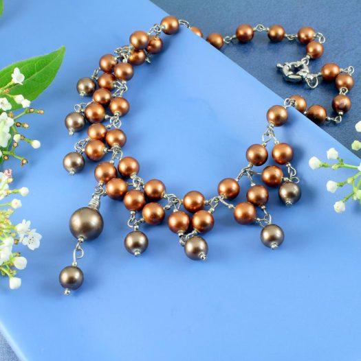 Bronze Freshwater Pearls N-0178-b