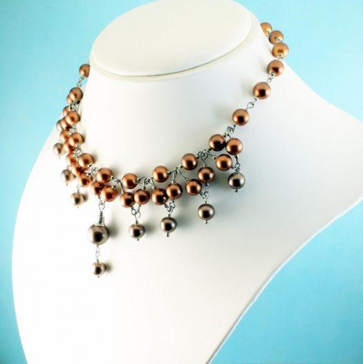 Bronze Freshwater Pearls N-0178-c