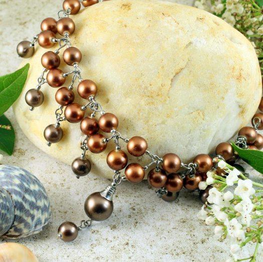 Bronze Freshwater Pearls N-0178-d