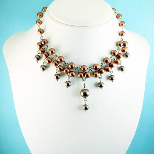 Bronze Freshwater Pearls N-0178-e