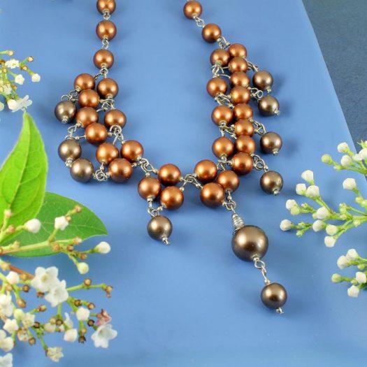 Bronze Freshwater Pearls N-0178-f
