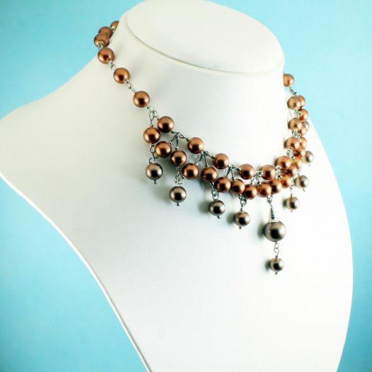 Bronze Freshwater Pearls N-0178-g