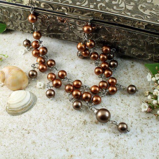 Bronze Freshwater Pearls N-0178-i