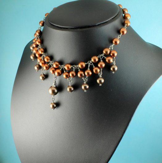 Bronze Freshwater Pearls N-0178-j