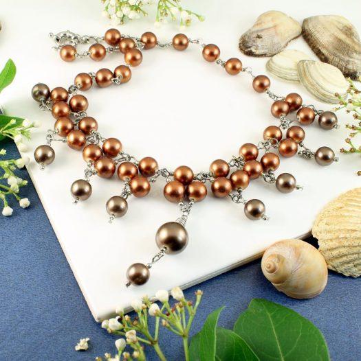 Bronze Freshwater Pearls N-0178-k