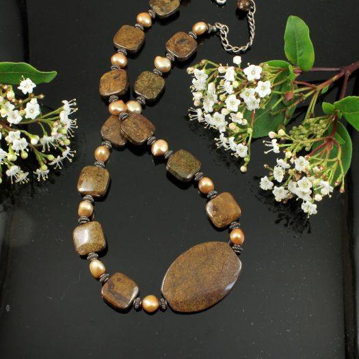 Bronzite Freshwater Pearls N-0120-b