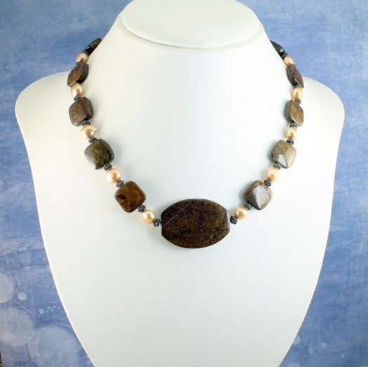 Bronzite Freshwater Pearls N-0120-f