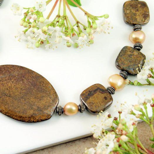 Bronzite Freshwater Pearls N-0120-h