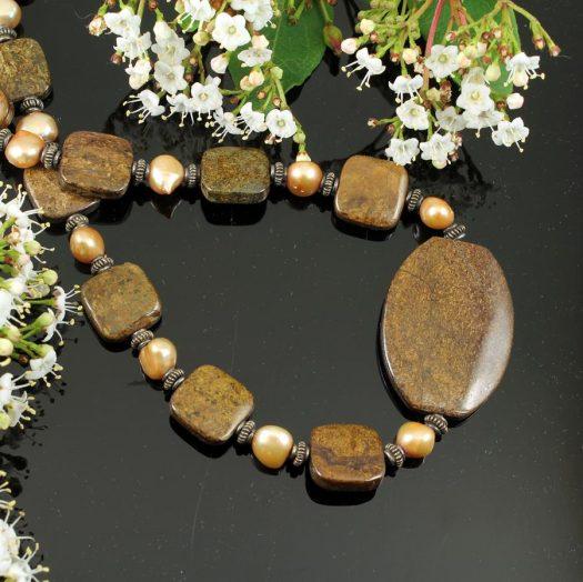 Bronzite Freshwater Pearls N-0120-k