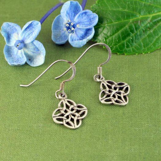 Celtic 4-Leaf Clover Earrings E-0196-a