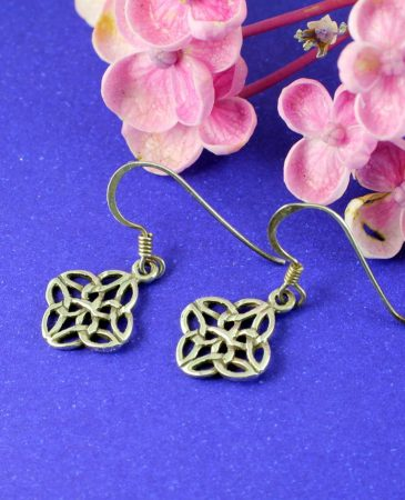Celtic 4-Leaf Clover Earrings E-0196-b