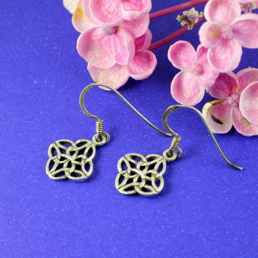 Celtic 4-Leaf Clover Earrings E-0196-b