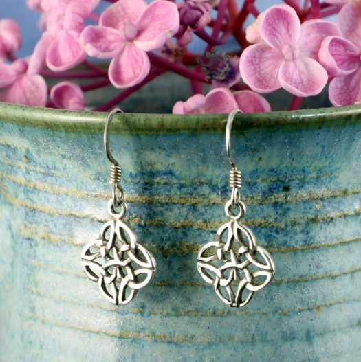Celtic 4-Leaf Clover Earrings E-0196-c